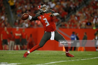 TAMPA, FL - NOVEMBER 27: Quarterback Jameis Winston #3 of the Tampa Bay Buccaneers drops back to pass during the third quarter of an NFL game against the Seattle Seahawks on November 27, 2016 at Raymond James Stadium in Tampa, Florida. (Photo by Brian Blanco/Getty Images)