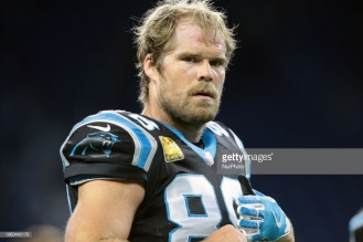 Carolina Panthers tight end Greg Olsen (88) is seen during an NFL football game against the Detroit Lions in Detroit, Michigan USA, on Sunday, November 18, 2018. (Photo by Jorge Lemus/NurPhoto via Getty Images)